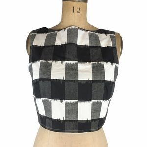 Urban Outfitters Plaid Crop Top/Vest